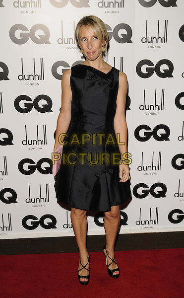 SAM TAYLOR-WOOD.Inside arrivals at the GQ Men of the Year Awards at the Royal Opera House, Covent Garden, London, England..September 2nd 2008. .full length black dress bows shoes heels sandals pink clutch bag Taylor Wood sleeveless.CAP/CAN.©Can Nguyen/Capital Pictures.