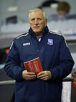 LIVERPOOL, ENGLAND - Thursday, October 4, 2012: Tranmere Rovers' manager Ronnie Moore watches Liverpool take on Udinese Calcio during the UEFA Europa League Group A match at Anfield. (Pic by David Rawcliffe/Propaganda)