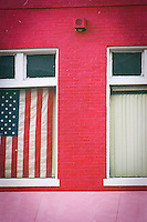 Patriotic spirit after September 11, 2001. Georgtown, Washington, DC. Pentax Spotmatic.