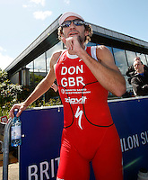 Photo: Richard Lane/Richard Lane Photography. GE Strathclyde Park Triathlon. 22/05/2011. Elite Men winner, Tim Don.