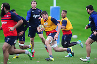 Josh Bayliss of Bath Rugby in action. Bath Rugby training session on November 22, 2016 at Farleigh House in Bath, England. Photo by: Patrick Khachfe / Onside Images