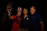 Salvador Brazil - June 30, 2014: USA Fanfest in Salvador for the 2014 World Cup.