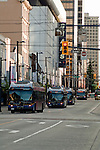 Trolley bus / Down town buildings, Vancouver, British Columbia, Canada. British Columbia, Canada