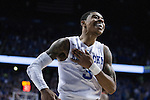 UK guard Tyler Ulis pounds his chest after converting a tough shot at the University of Kentucky vs. University of Georgia basketball game on Tuesday, February 9, 2016 in Louisville, KY. Photo by Cameron Sadler | Staff