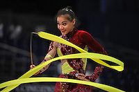 September 10, 2009; Mie, Japan;  Ana Paula Scheffer of Brazil is closeup with ribbon at 2009 World Championships Mie.  Photo by Tom Theobald