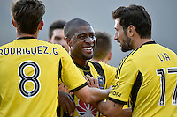 Roly Bonevacia in action during the A League - Wellington Phoenix v Adelaide United at Hutt Recreational Ground, Lower Hutt, New Zealand on Saturday 7 March 2015. <br /> Photo by Masanori Udagawa. <br /> www.photowellington.photoshelter.com.