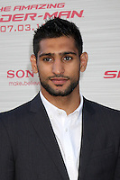 "LOS ANGELES - JUN 28:  Amir Khan arrives at the ""The Amazing Spider-Man"" Premiere at Village Theater on June 28, 2012 in Westwood, CA"