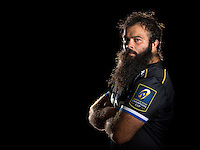 Kane Palma-Newport poses for a portrait in the 2015/16 European kit during a Bath Rugby photocall on September 8, 2015 at Farleigh House in Bath, England. Photo by: Patrick Khachfe / Onside Images