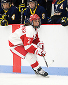Britt Hergesheimer (BU - 2) - The Boston University Terriers defeated the visiting University of Windsor Lancers 4-1 in a Saturday afternoon, September 25, 2010, exhibition game at Walter Brown Arena in Boston, MA.