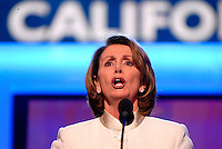 DENVER, CO - August 25, 2008: Speaker of the House Nancy Pelosi at the 2008 Democratic National Convention at the Pepsi Center in Denver, Colorado.