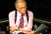 CNN's Larry King on the set at the Republican National Convention at Madison Square Garden in New York City on Sept. 2, 2004 Sandy Schaeffer/MAI Sandy Schaeffer Photography - Washington DC Photographer<br />