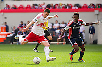 Kenny Cooper (33) of the New York Red Bulls. The New York Red Bulls defeated the New England Revolution 1-0 during a Major League Soccer (MLS) match at Red Bull Arena in Harrison, NJ, on April 28, 2012.