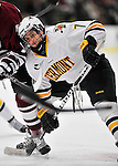 22 November 2011: University of Vermont Catamount forward Mike Montagna, a Freshman from Fulton, NY, in action against the University of Massachusetts Minutemen at Gutterson Fieldhouse in Burlington, Vermont. The Catamounts defeated the Minutemen 2-1 in their annual pre-Thanksgiving meeting of the Hockey East season. Mandatory Credit: Ed Wolfstein Photo