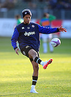 Anthony Watson of Bath Rugby in action during the pre-match warm-up. European Rugby Challenge Cup match, between Bath Rugby and Pau (Section Paloise) on January 21, 2017 at the Recreation Ground in Bath, England. Photo by: Patrick Khachfe / Onside Images