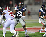 Ole Miss' Bobby Massie (79) vs. Alabama at Vaught-Hemingway Stadium in Oxford, Miss. on Saturday, October 14, 2011. Alabama won 52-7.