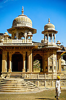 Gaitor (cenotaphs, memorials to Royal Family of Jaipur), Jaipur, Rajasthan, India
