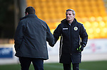 St Johnstone v St Mirren....21.03.15<br /> Gary Teale shakes hands with Tommy Wright at full time<br /> Picture by Graeme Hart.<br /> Copyright Perthshire Picture Agency<br /> Tel: 01738 623350  Mobile: 07990 594431