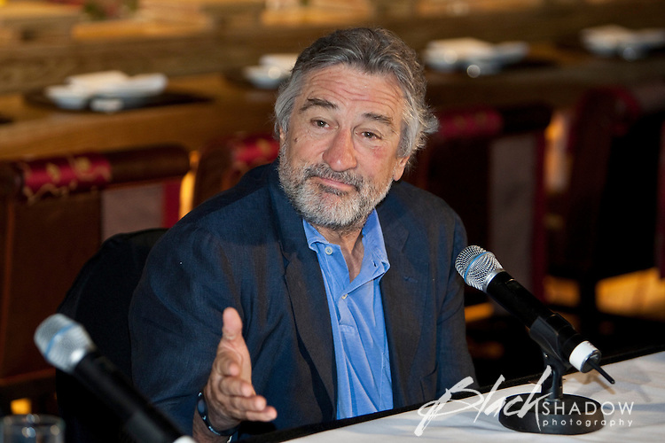 Acting great Robert De Niro at a media conference at the Nobu restaurant, Crown Casino, Melbourne