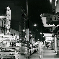 1969 July 11..Historical..Granby Street at night looking South..Millard Arnold.NEG# MDA69-58-3.NRHA#..