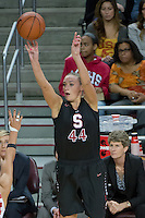 LOS ANGELES, CA - February 15, 2013:  Stanford's Joslyn Tinkle during the Cardinal's game against USC.   Stanford defeated USC, 79-55.