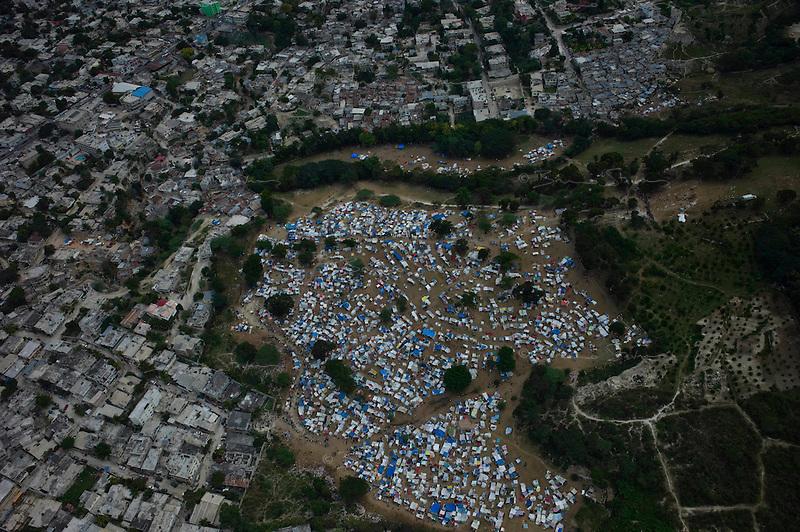 Port Au Prince, Haiti, Jan 19 2010.One of many makeshift IDP camps near Port au Prince..