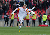 20 April 2013: Houston Dynamo midfielder Andrew Driver #20 in action during the second half in an MLS game between the Houston Dynamo and Toronto FC at BMO Field in Toronto, Ontario Canada..The game ended in a 1-1 draw...