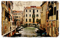 Venice, Italy 2 - Forgotten Postcard digital art collage