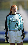 Wake goalkeeper Kaitlyn Doe on Wednesday, November 2nd, 2005 at SAS Stadium in Cary, North Carolina. The University of Virginia Cavaliers defeated the Wake Forest Demon Deacons 2-1 during their Atlantic Coast Conference Tournament Quarterfinal game.