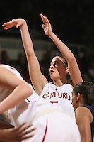 STANFORD, CA - JANUARY 2:  Michelle Harrison of the Stanford Cardinal during Stanford's 79-58 win over the California Golden Bears on January 2, 2010 at Maples Pavilion in Stanford, California.