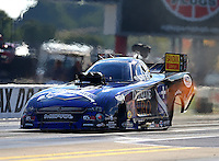 Sep 18, 2015; Concord, NC, USA; NHRA funny car driver Jack Beckman during qualifying for the Carolina Nationals at zMax Dragway. Mandatory Credit: Mark J. Rebilas-USA TODAY Sports