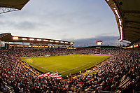 The SuperClasico packed the stadium. The LA Galaxy beat Chivas USA 2-1 at Home Depot Center stadium in Carson, California on Sunday October 3, 2010.