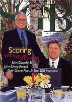 February 2000:  Cover story photographed for Miller Freeman Publication SGB Sporting Goods Business News on MVP.com with John Costello and John Elway in Palm Desert.