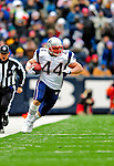 28 December 2008: New England Patriots' fullback Heath Evans gains 20 yards in the first quarter against the Buffalo Bills at Ralph Wilson Stadium in Orchard Park, NY. The Patriots kept their playoff hopes alive defeating the Bills 13-0 in their 16th win against Buffalo of their past 17 meetings. ***** Editorial Use Only ******..Mandatory Photo Credit: Ed Wolfstein Photo