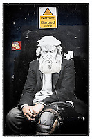 Street art (paste-up) by unknown artist, Shoreditch, East London