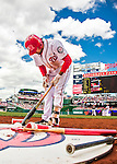 15 May 2016: Washington Nationals third baseman Anthony Rendon prepares his bat on deck during a game against the Miami Marlins at Nationals Park in Washington, DC. The Marlins defeated the Nationals 5-1 in the final game of their 4-game series.  Mandatory Credit: Ed Wolfstein Photo *** RAW (NEF) Image File Available ***