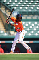 Baltimore Orioles Cedric Mullins (19) during an Instructional League game against the Boston Red Sox on September 22, 2016 at the Ed Smith Stadium in Sarasota, Florida.  (Mike Janes/Four Seam Images)