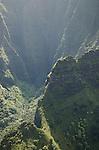 Canyon cliffs on the Na Pali Coast, Kauai, Hawaii
