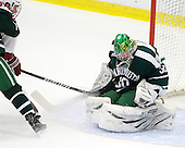 Alex Fallstrom (Harvard - 16), James Mello (Dartmouth - 30) - The Harvard University Crimson defeated the Dartmouth College Big Green 4-1 (EN) on Monday, January 18, 2010, at Bright Hockey Center in Cambridge, Massachusetts.