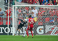 July 24, 2010 FC Dallas goalkeeper Kevin Hartman #1makes a save during a game between FC Dallas and Toronto FC at BMO Field in Toronto..Final score was 1-1.