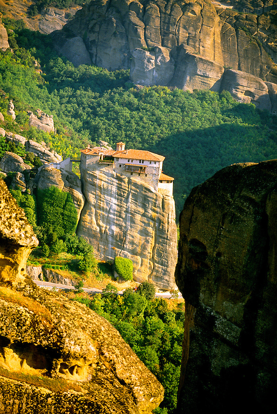 Roussanou Monastery, (a.k.a. Ayia Barbara), The Meteora, near Kalambaka, Greece