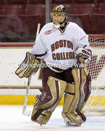 Chris Venti (Boston College - 30) - The Boston College Eagles defeated the Northeastern University Huskies 4-1 on senior night at Kelley Rink at Conte Forum in Chestnut Hill, Massachusetts, on Saturday, March 7, 2009.