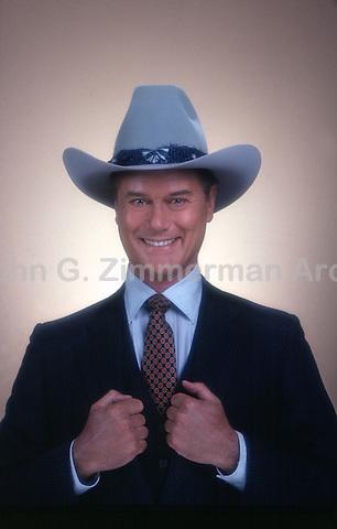 "Larry Hagman as J.R. Ewing on ""Dallas,"" TV series, 1980. Photo by John G. Zimmerman."