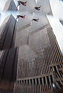 Abstract of the World Trade Center - Twin Towers.