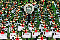 THE FIELD OF REMEMBRANCE, ST MARGARET'S CHURCH, WESTMINSTER ABBEY, LONDON.