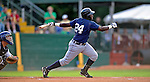 19 June 2008: Oneonta Tigers infielder Carlos Ramirez in action against the Vermont Lake Monsters at historic Centennial Field in Burlington, Vermont. The Tigers defeated the Lake Monsters 13-8 in the rubber match of their three-game season opening series in Vermont...Mandatory Credit: Ed Wolfstein Photo