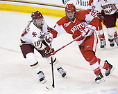 Ashley Motherwell (BC - 18), Jenn Wakefield (BU - 9) - The Boston College Eagles defeated the Boston University Terriers 2-1 in the opening round of the Beanpot on Tuesday, February 8, 2011, at Conte Forum in Chestnut Hill, Massachusetts.