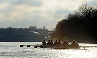 "London; GREAT BRITAIN; Both Cambridge crew, Bake,  racing Dukes Meadows. University Trial Eights for crew selection for 157th Boat Race [April 2011]  raced over the Championship Course Putney to Mortlake  on the River Thames. Wednesday  - 08/12/2010   [Mandatory Credit; ""Photo, Peter Spurrier/Intersport-images]..Crews..CUBC. Bake; Middx Station.Bow, Nick EDELMAN, 2. Charlie PITT-FORD, 3. Josh PENDRY, 4. Alex ROSS, 5. Geoff ROTH, 6. Derek RASUSSEN, 7. David NELSON, Stroke. Mike THORP and cox Liz BOX...CUBC Shake; Surrey Station.Bow, Jamie LOGIE, 2. Andrew VIQUERTAT, 3. James STRAWSON, 4. Ben EVANS, 5. Dan RIX-STANDING, 6. Hardy CUBASCH, 7. George NASH, stroke. Joel JENNINGS and cox Tom FIELDMAN."