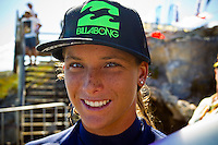 Margaret River, Western Australia.  (Wednesday, April 6, 2011). Courtney Conlogue (USA). The Six Star Prime Telstra Drug Aware Pro continued  with the four heats of the  Women's competition before commencing the Men's competition with the remaining heats of the Round of 96. The contest is the biggest surfing event ever held in Western Australia with 26 out of the Top 32 ranked surfers in the world competing.Number One seed Kelly Slater put a scare through the organisers when he trailed the leaders of his first round heat for almost 25 minutes. A late wave put the ten times World Champion into the lead to see him through to the next round. - Photo: joliphotos.com