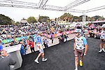 Riders at sign on before the start of Stage 6 of the 100th edition of the Giro d'Italia 2017, running 217km from Reggio Calabria to Terme Luigiane, Italy. 11th May 2017.<br /> Picture: LaPresse/Gian Mattia D'Alberto   Cyclefile<br /> <br /> <br /> All photos usage must carry mandatory copyright credit (&copy; Cyclefile   LaPresse/Gian Mattia D'Alberto)
