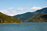 New Zealand South Island, scenic views in Marlborough Sounds on Greenshell Mussel cruise out of Havelock, featuring Kenepura Sound. Photo copyright  Lee Foster.